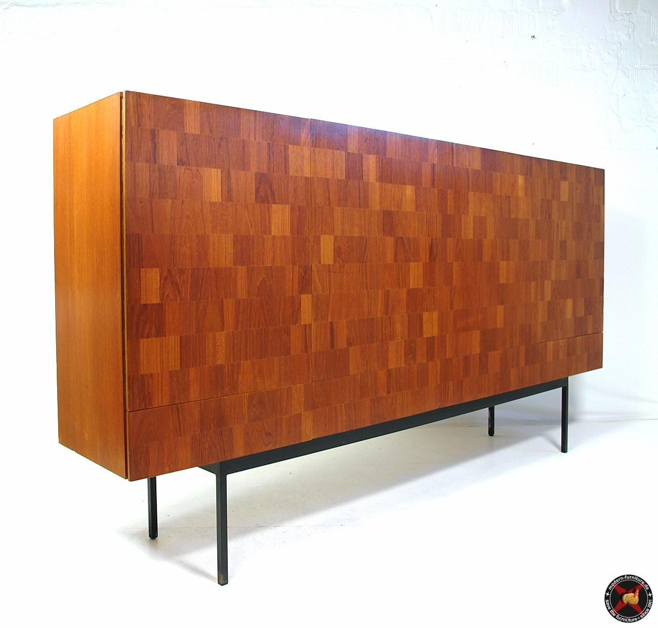 areaneo dieter waeckerlin for behr chess board rosewood highboard 1952 modern furniture. Black Bedroom Furniture Sets. Home Design Ideas