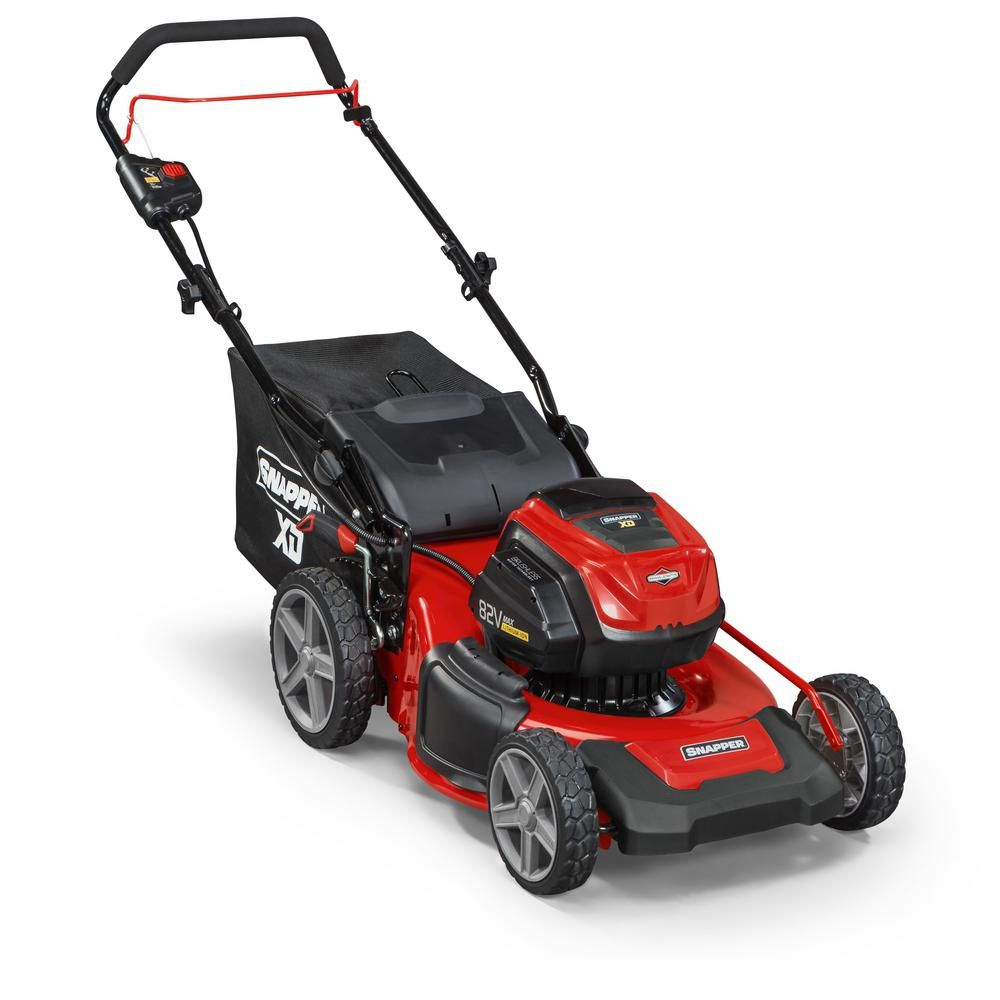 Snapper Xd 19 In 82 Volt Lithium Ion Electric Cordless Walk Behind Push Mower Two 2 0 Ah Batteries Charger In Push Lawn Mower Push Mower Cordless Lawn Mower