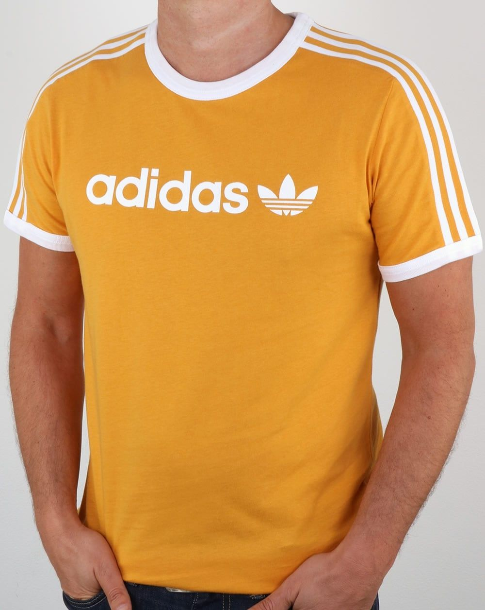 Adidas Originals Trefoil 3 Stripes T shirt Bold BlueYellow