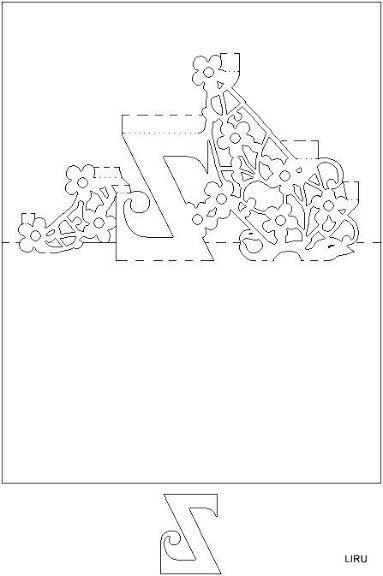 kirigami - livro de letras - liru origami