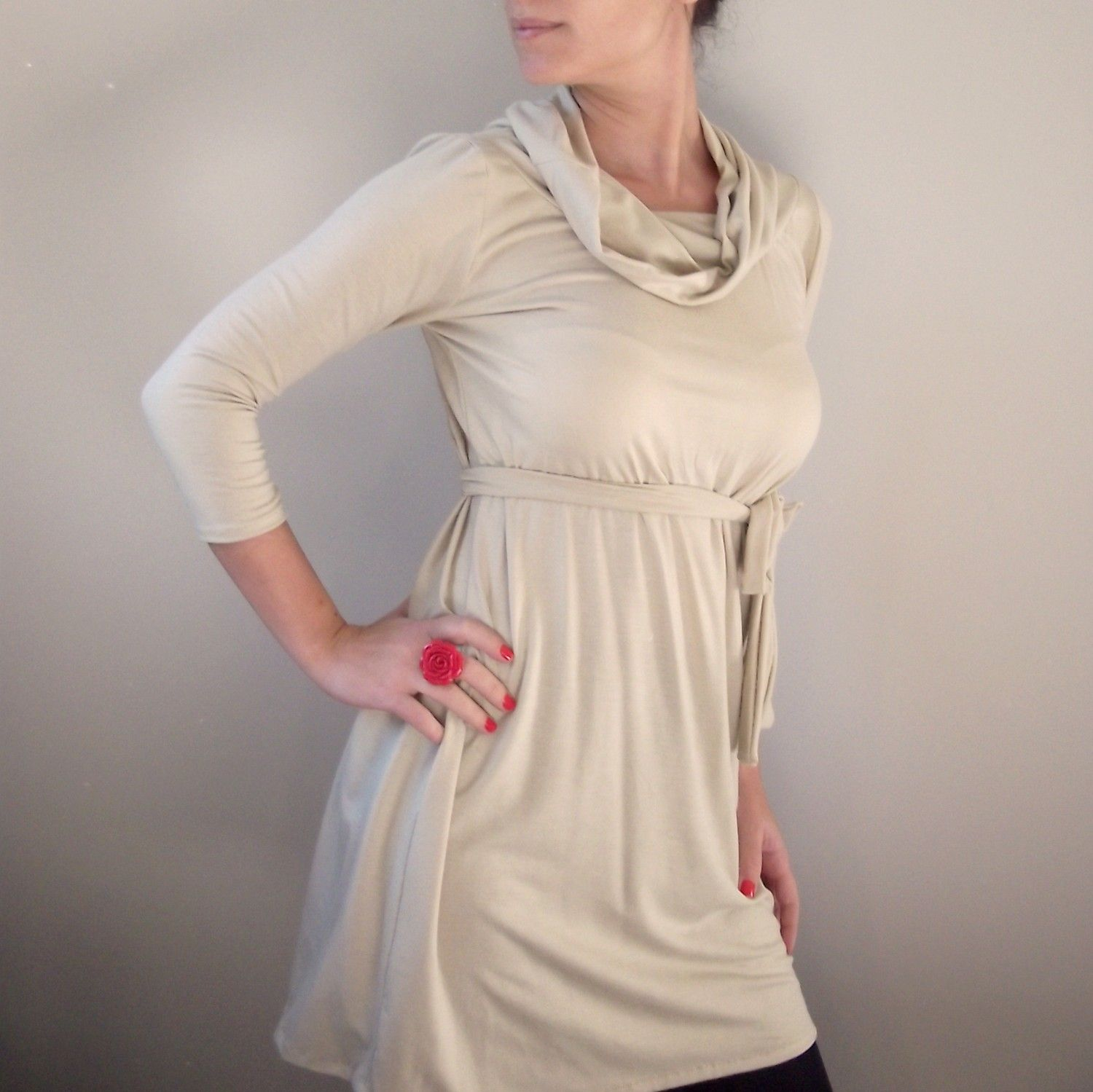 Women tunic top on sale maternity tunic top long sleeve by onor