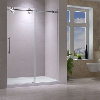 Jade Opal Shower Enclosure With 10 Mm Clear Tempered Glass Bathtub Shower Doors Semi Frameless Shower Doors Shower Doors