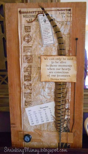 ShrinkingMimsy's PaperCrafts: The one with the Thanksgiving Mantel....