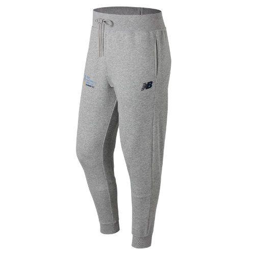 New Balance 73544 Men's NYC Marathon Finisher Essentials Sweatpant -  Grey/White (MP73544VAGW)