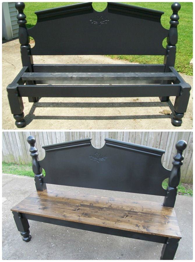 8 Diy Bed Frame Garden Bench Projects Picture Instructions Diy