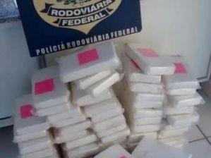 JORNAL CORREIO MS: PRF apreende mais de 80 quilos de cocaína na BR-26...