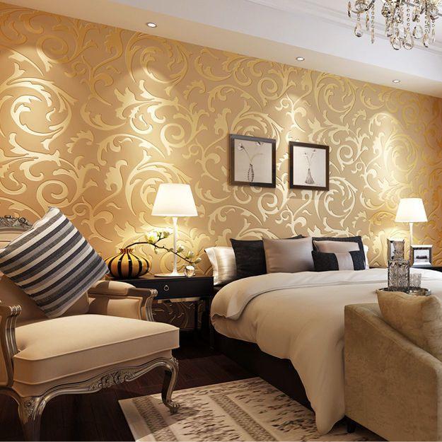 Luxus 3D Optik Vliestapete Barock Ornament Wandtapete Wand Tapete - schlafzimmer barock