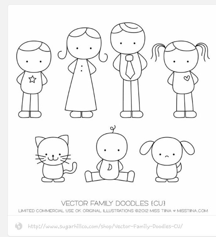 Doodle Family Family Drawing Doodles Drawing For Kids