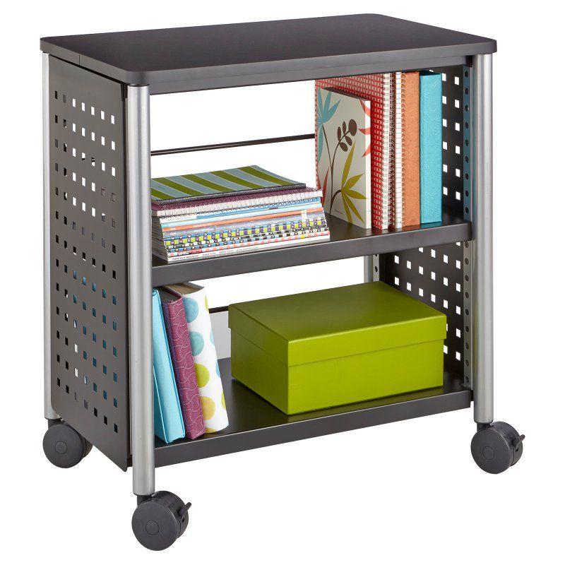 Safco Scoot 2 Shelf Personal Bookcase - 1604BL