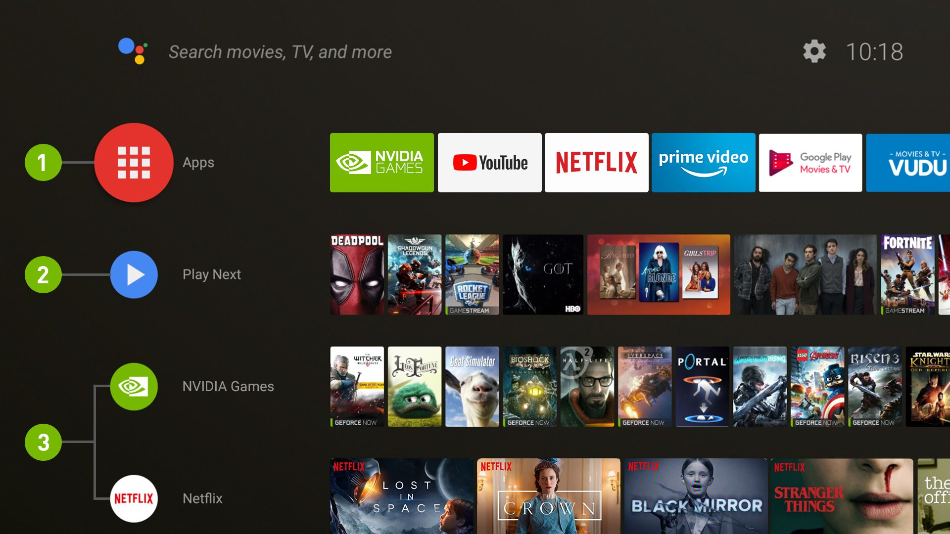best apps for android tv os