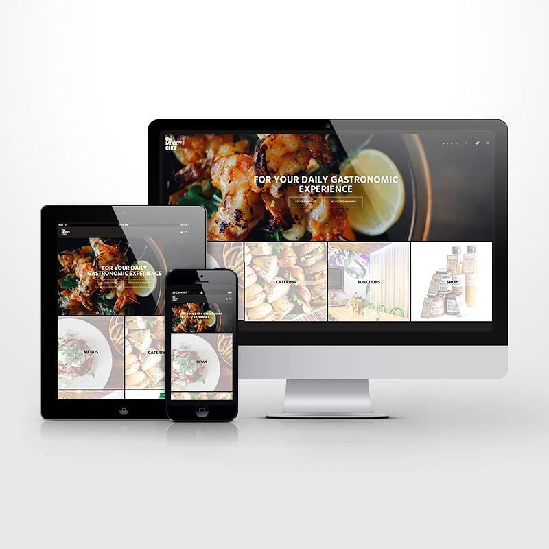 Responsive e-commerce website for the Moody Chef #responsivedesign #webdesign #wordpress #responsive #content #development #branding #identity #graphicdesign #website