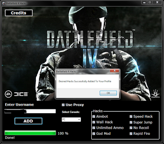 Battlefield 4 Hack Cheat Tool Online 2017 Tool New Battlefield 4 Hack Cheat Tool download undetected. This is the best version of Battlefield 4 Hack Cheat Tool, voted as best working tool.