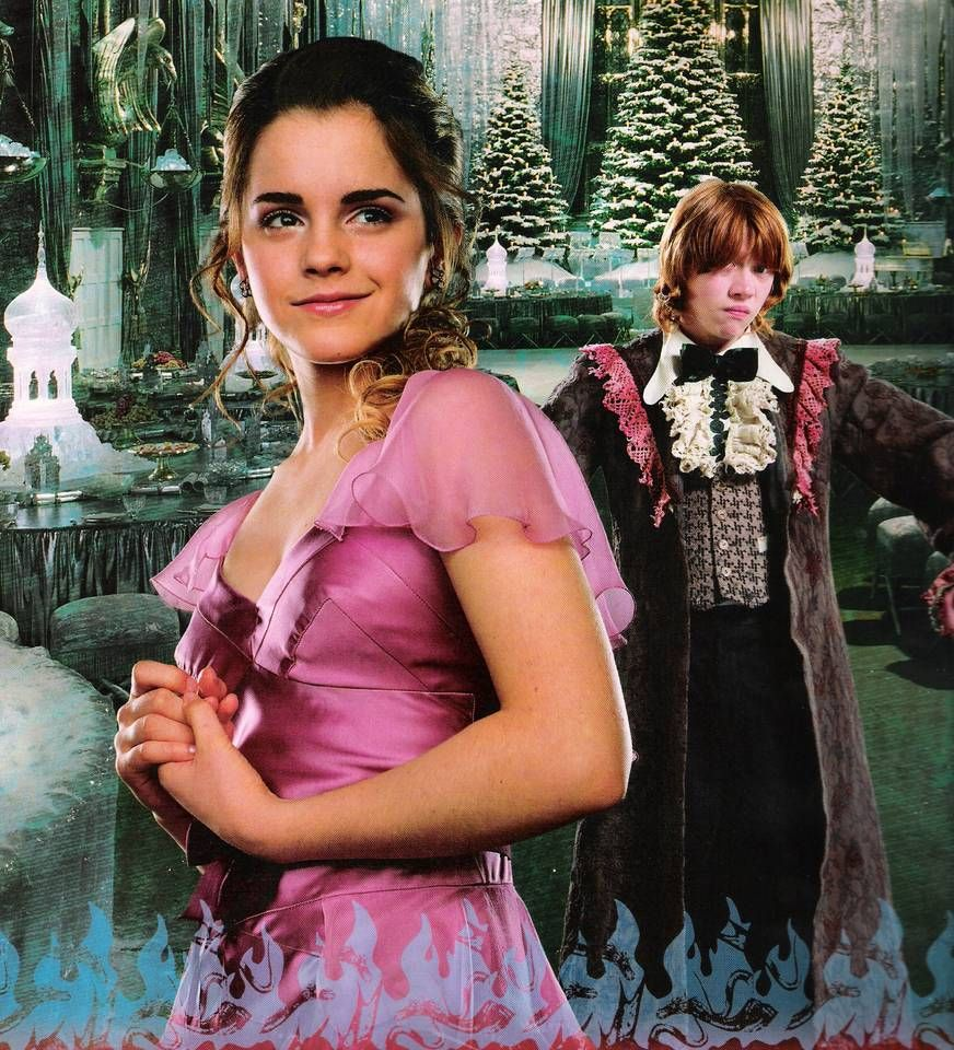 Year Four Harry Potter And The Goblet Of Fire Hermione Granger And Ron Weasley Harry Potter Cast Hermione Granger Harry Potter Movies