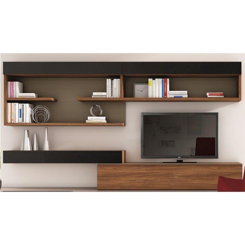 Meuble tv mural malita mur tv en 2019 tv furniture - Meuble tv mural bois ...