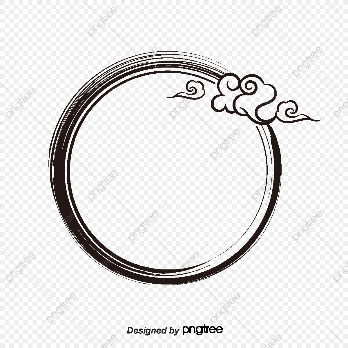 Vector Ink Circle Border Vector Frame Pomo Png And Vector With Transparent Background For Free Download Circle Borders Graphic Design Background Templates Frame Border Design