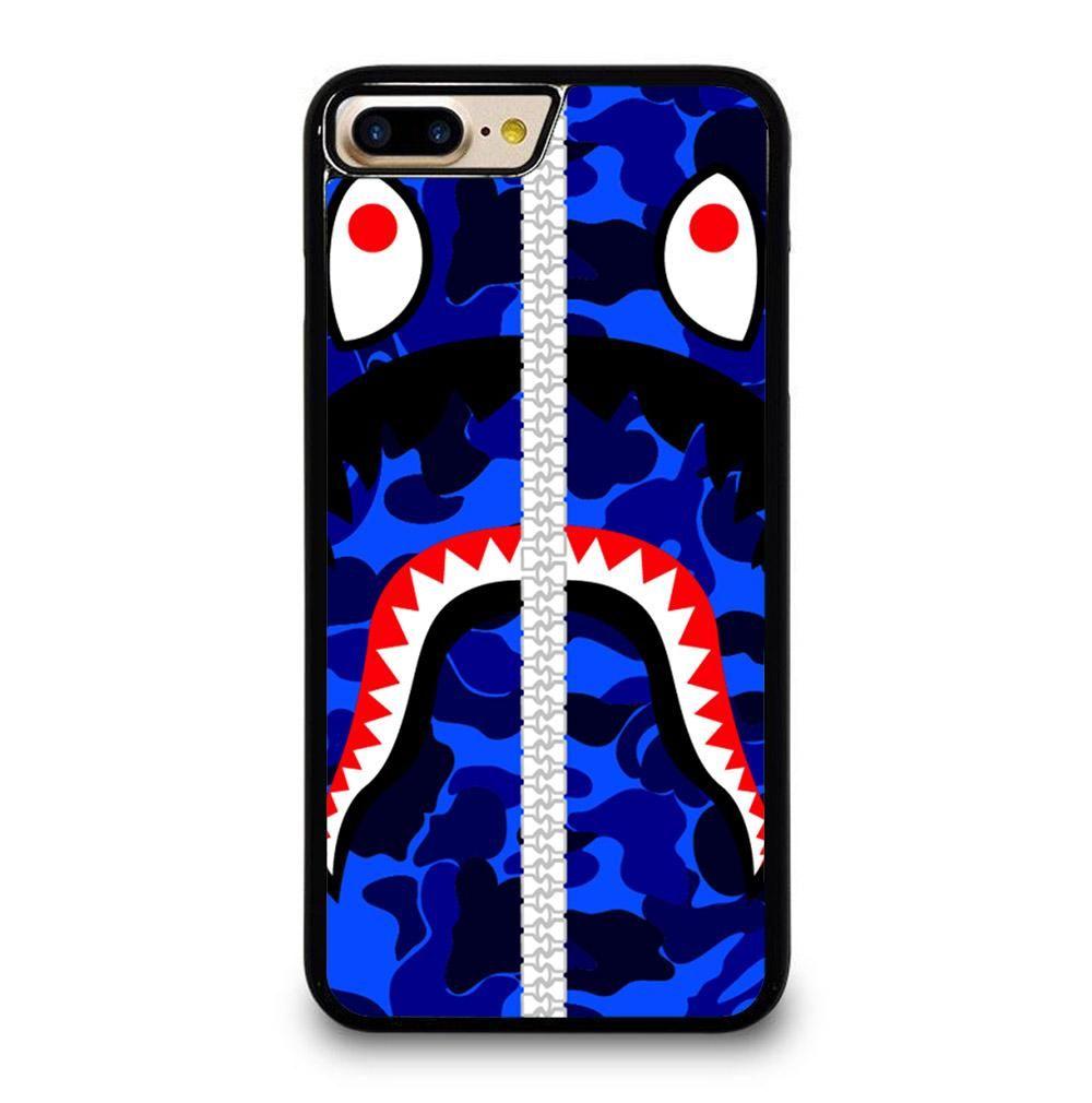 Bape logo blue iphone 7 8 plus case iphone 11 pro case