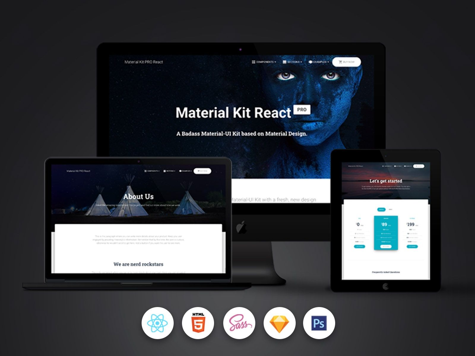 Material Kit PRO React in 2020 Web design resources, Kit