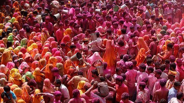 Holi Festival via Twitter: @TravlandLeisure