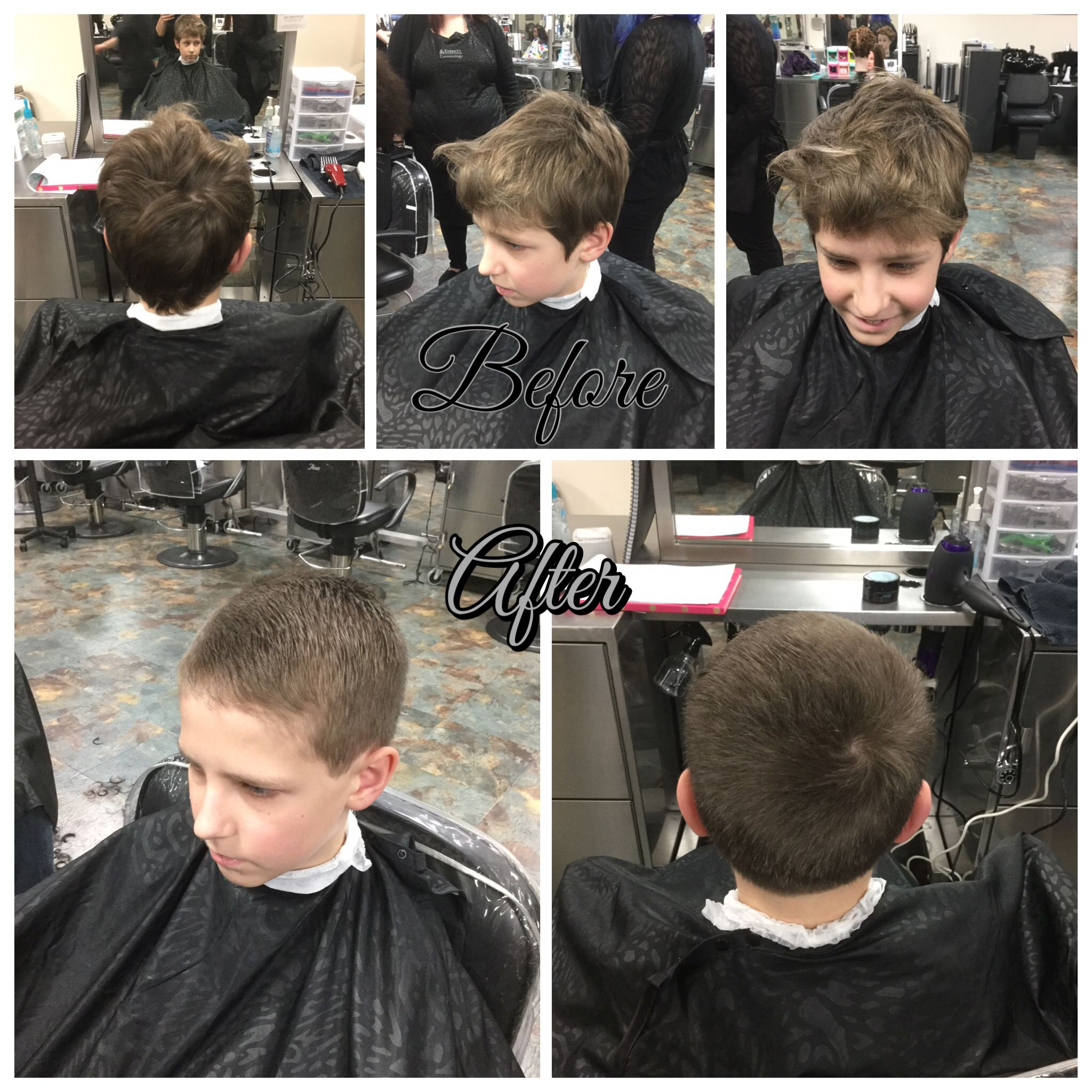 Haircut By Doing A 4 Guard On Sides And 8 Guard On Top Blended With