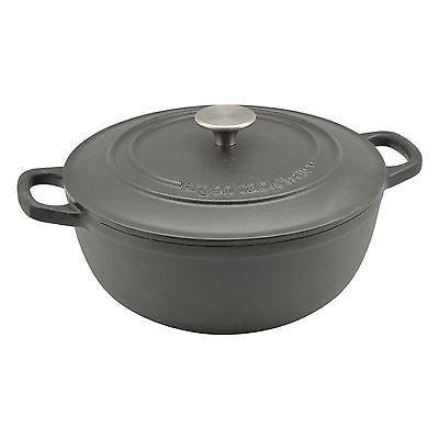 Details About Cast Iron Casserole Dutch Oven Round Cooking Dish