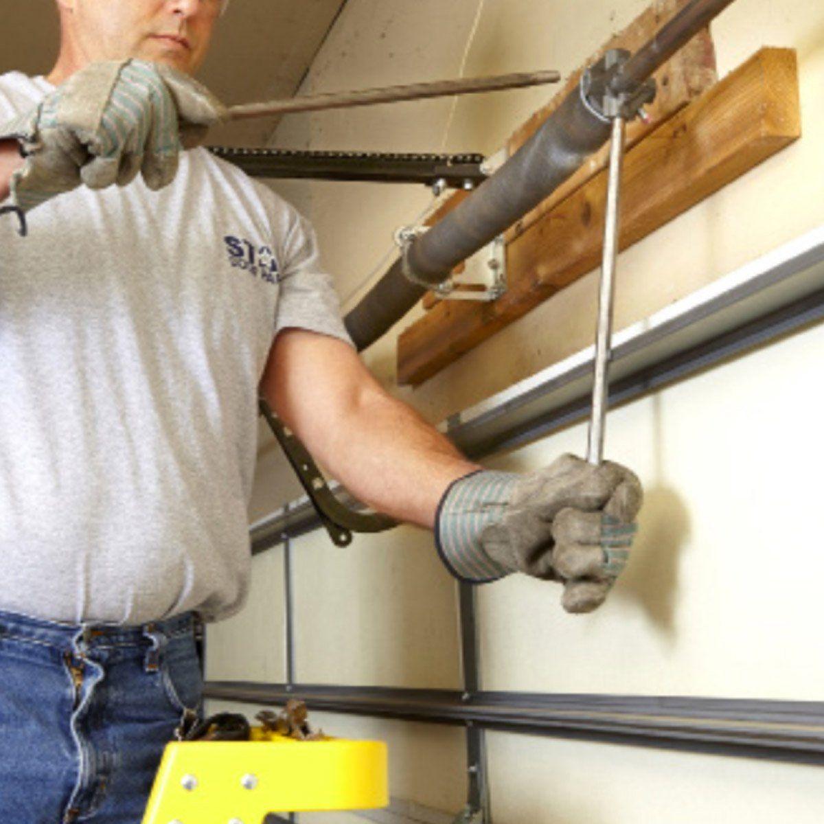 How To Repair Garage Door Springs And Cables Garage Door Springs Overhead Garage Door Garage Door Repair