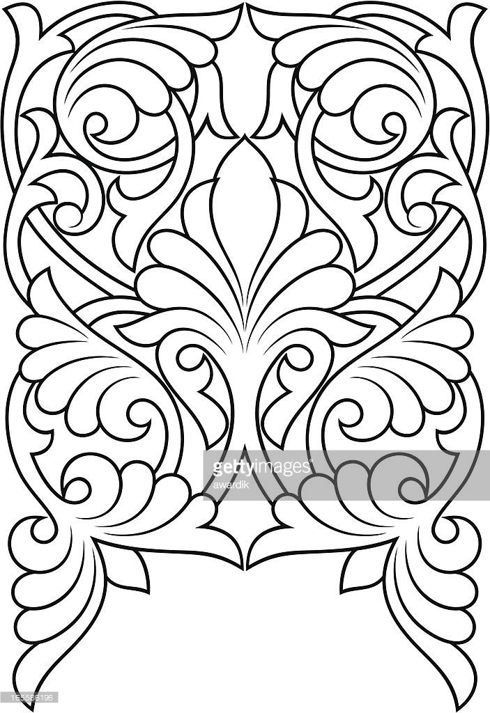 Vector Art Background Leather Tooling Patterns Leather Craft