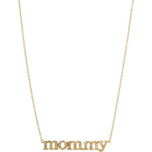 Jennifer meyer womens mommy pendant necklace 3250 liked jennifer meyer diamond mommy pendant necklace at london jewelers aloadofball Image collections