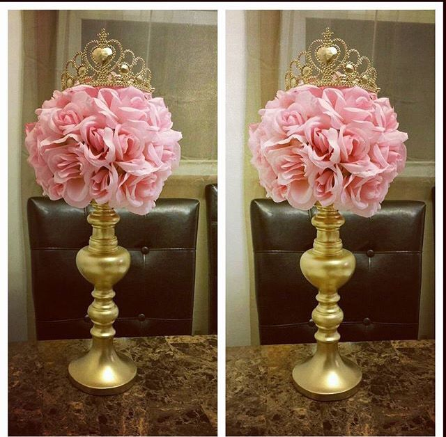 Cute Elegant Centerpiece : Princess centerpiece … baby everything