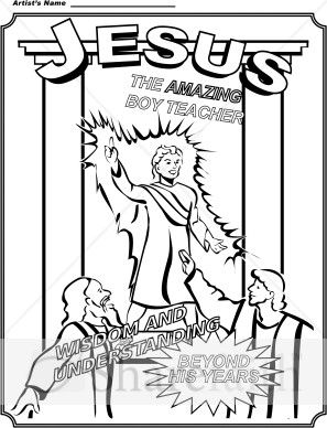 Jesus As A Boy In The Temple Coloring Page