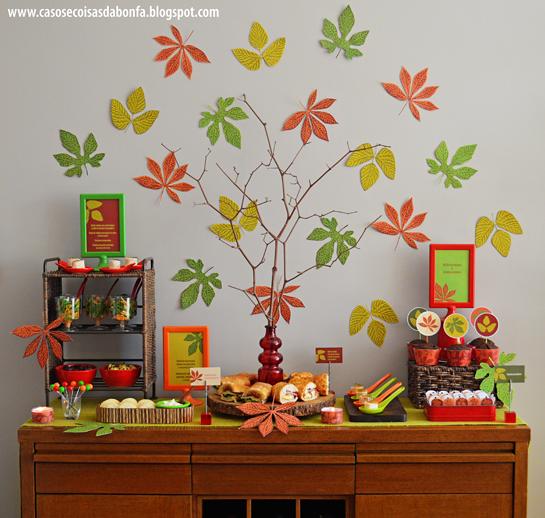 Casos e Coisas da Bonfa Festa do Outono 2015 OUTONO Festa de outono, Festa e Decoraç u00e3o festa -> Decoração Festa Folhas De Outono