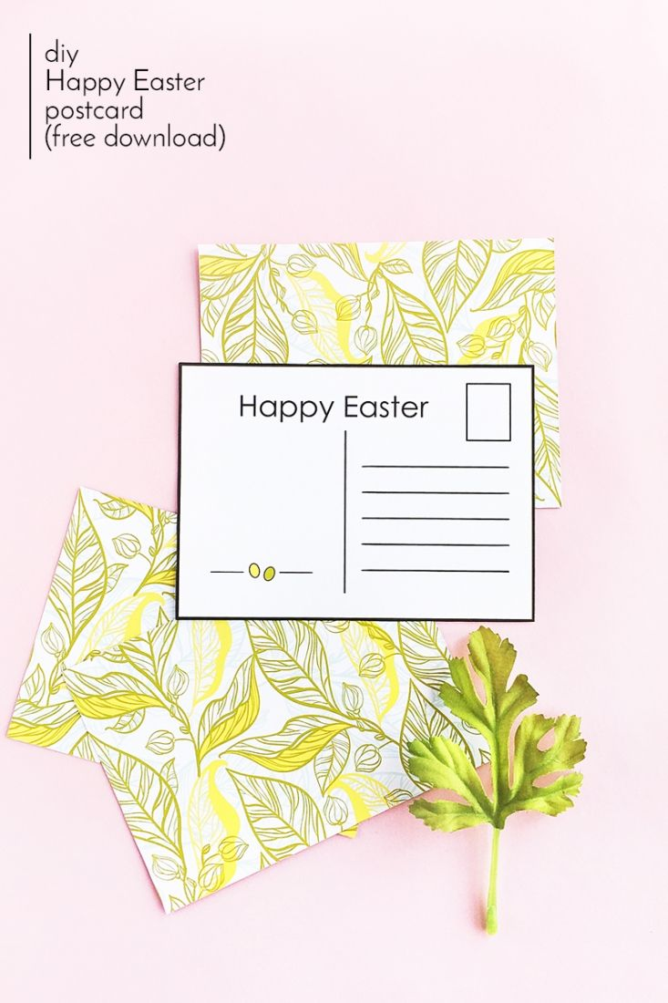 Diy easter postcards free printable free printable easter and diy easter postcards free printable negle Images