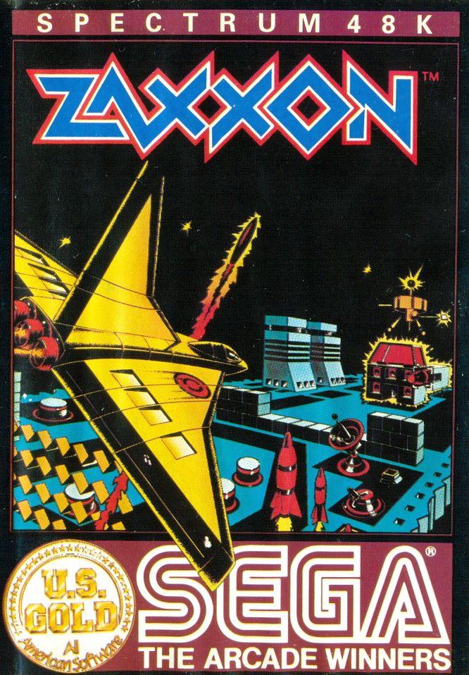 Zaxxon 1980s Retro gaming art, Classic video games