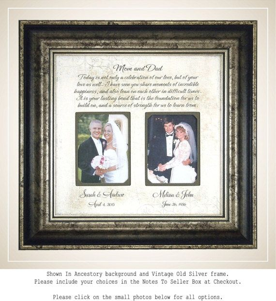 Parent wedding gift, custom photo mat, Parent wedding gift frame ...