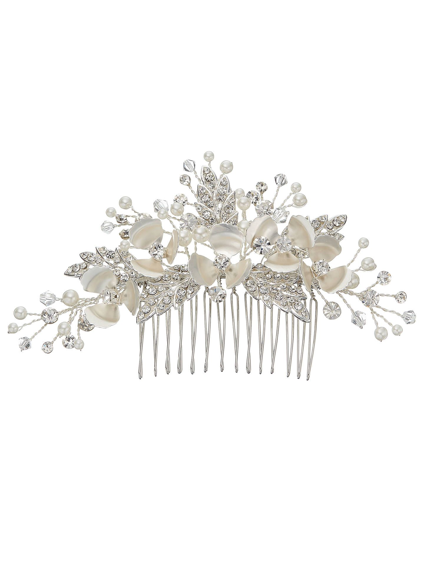 ivory & co. passionflower crystal and faux pearl flower hair