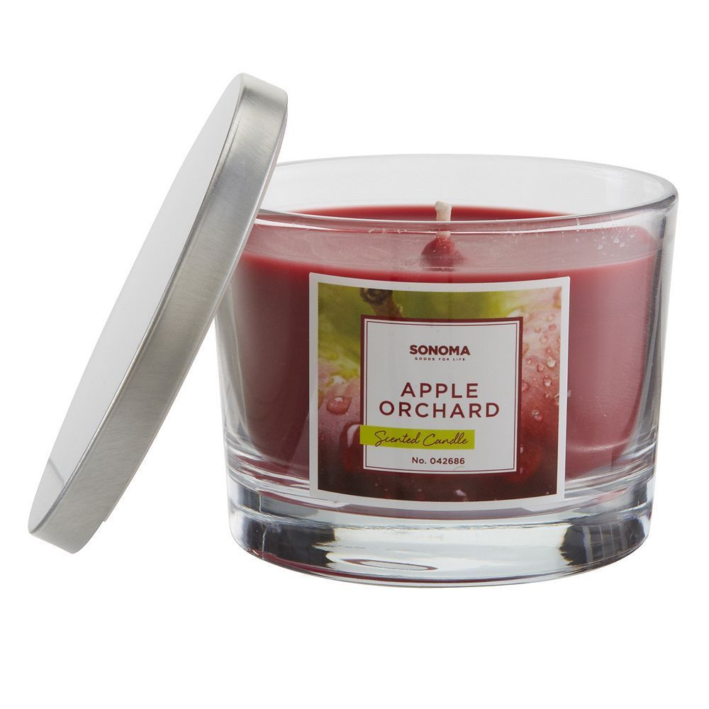 Sonoma goods for lifeâue apple orchard oz candle jar red