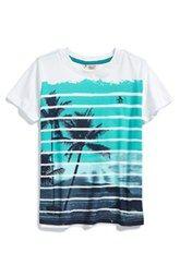 Original Penguin 'Stripe Surf' Graphic T-Shirt (Big Boys)