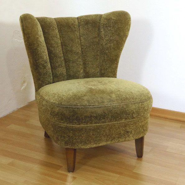 Vintage Clubsessel Cocktailsessel In Grun Gelb Aus Schwerer Qualitat 50er Jahre Wohnzimmer Sessel Vintage Mobel Sessel