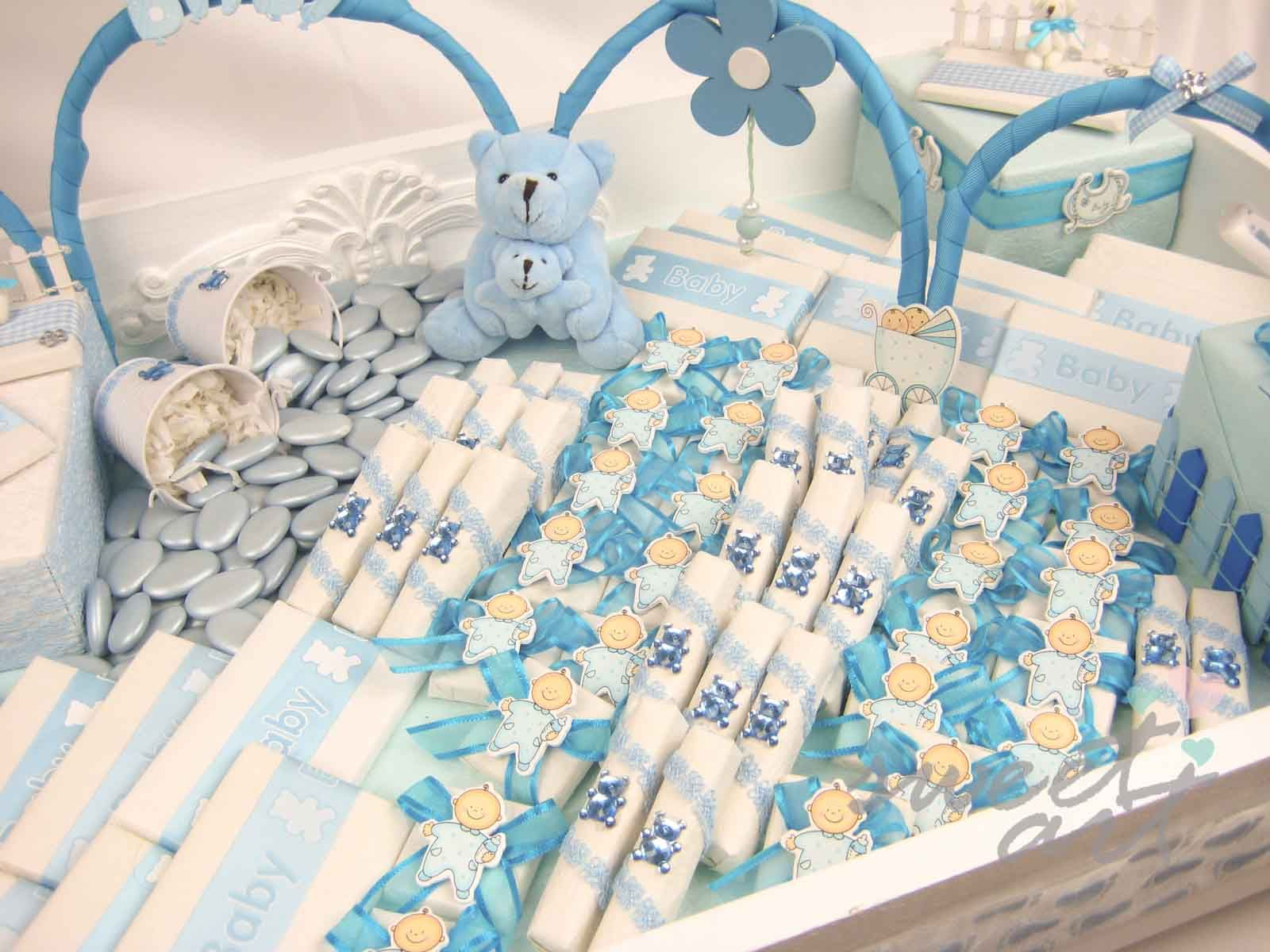 Baby shower and newborn announcement blue boy favour for Baby tray decoration