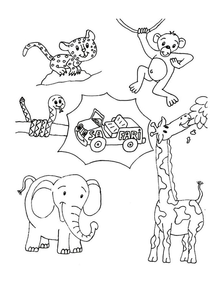 Wild Animal Coloring Pages Best Coloring Pages For Kids Animal Coloring Pages Zoo Animal Coloring Pages Coloring Pictures Of Animals [ 1024 x 771 Pixel ]