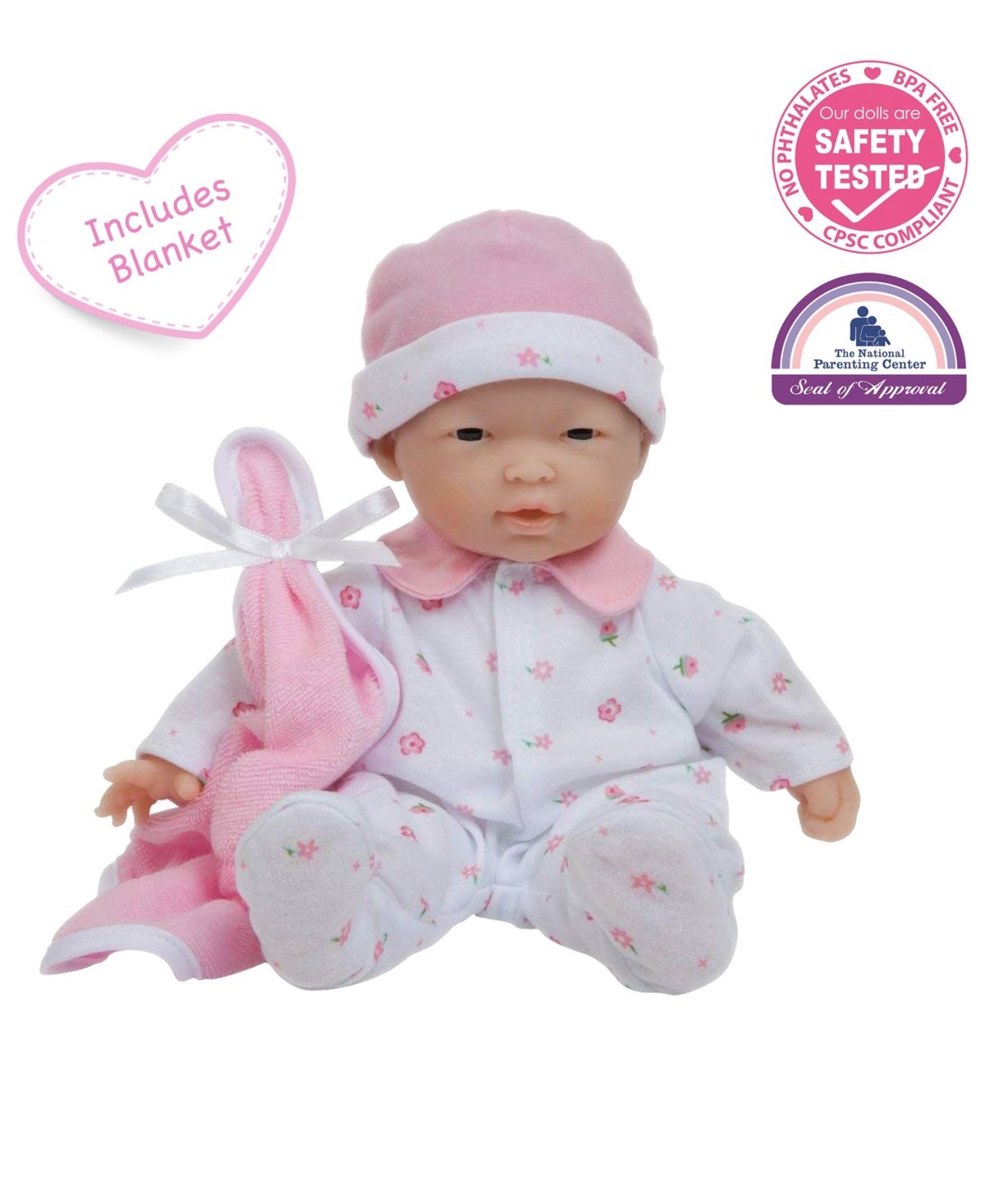 Jc Toys La Baby 11 Inch Pink Washable Soft Body Play Doll For Children 12 Months And Older Designed By Berenguer Dusty Rose La Baby Doll Play Baby
