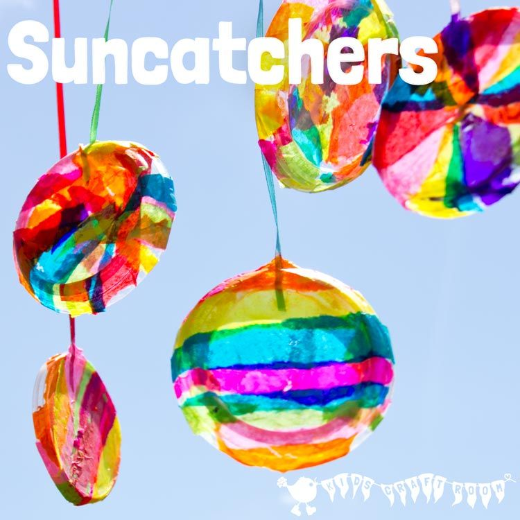 Colourful suncatchers suncatchers craft and easy for Suncatcher craft for kids