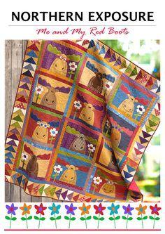 NORTHERN EXPOSURE | Quilt Patterns | PDF Pattern | Quilts | Moose ... : moose quilt pattern - Adamdwight.com