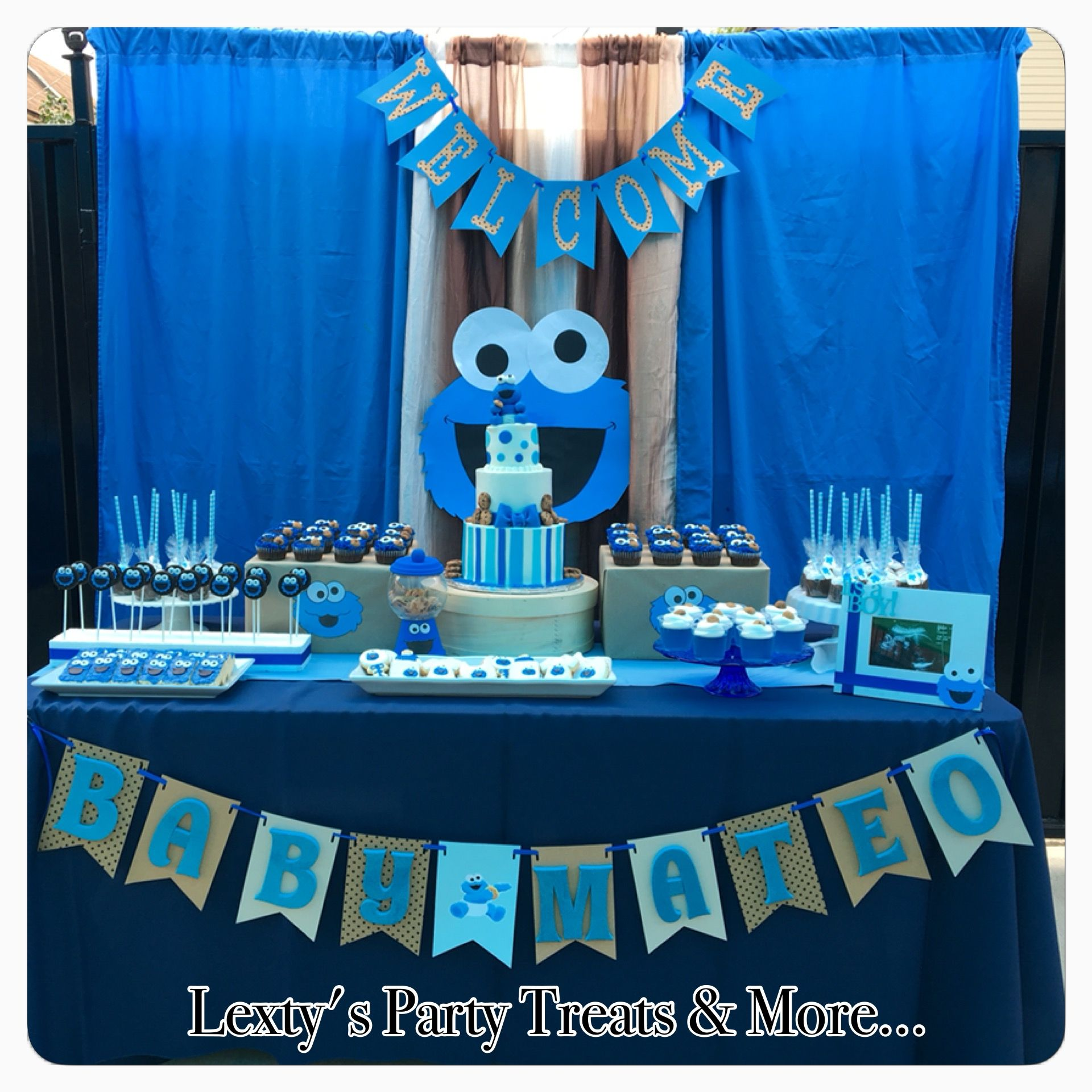 Attractive Cookie Monster Sweet Table. Monster Baby ShowersBoy ...