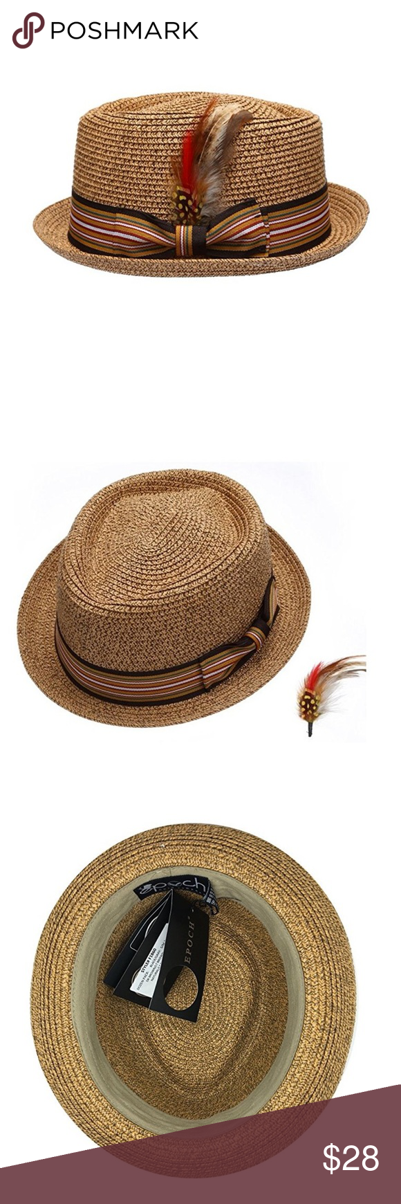 e679a4babf465 Men s Natural Brown Straw Fedora Hat Men s Natural Brown Straw Fedora Hat.  Features- Rounded