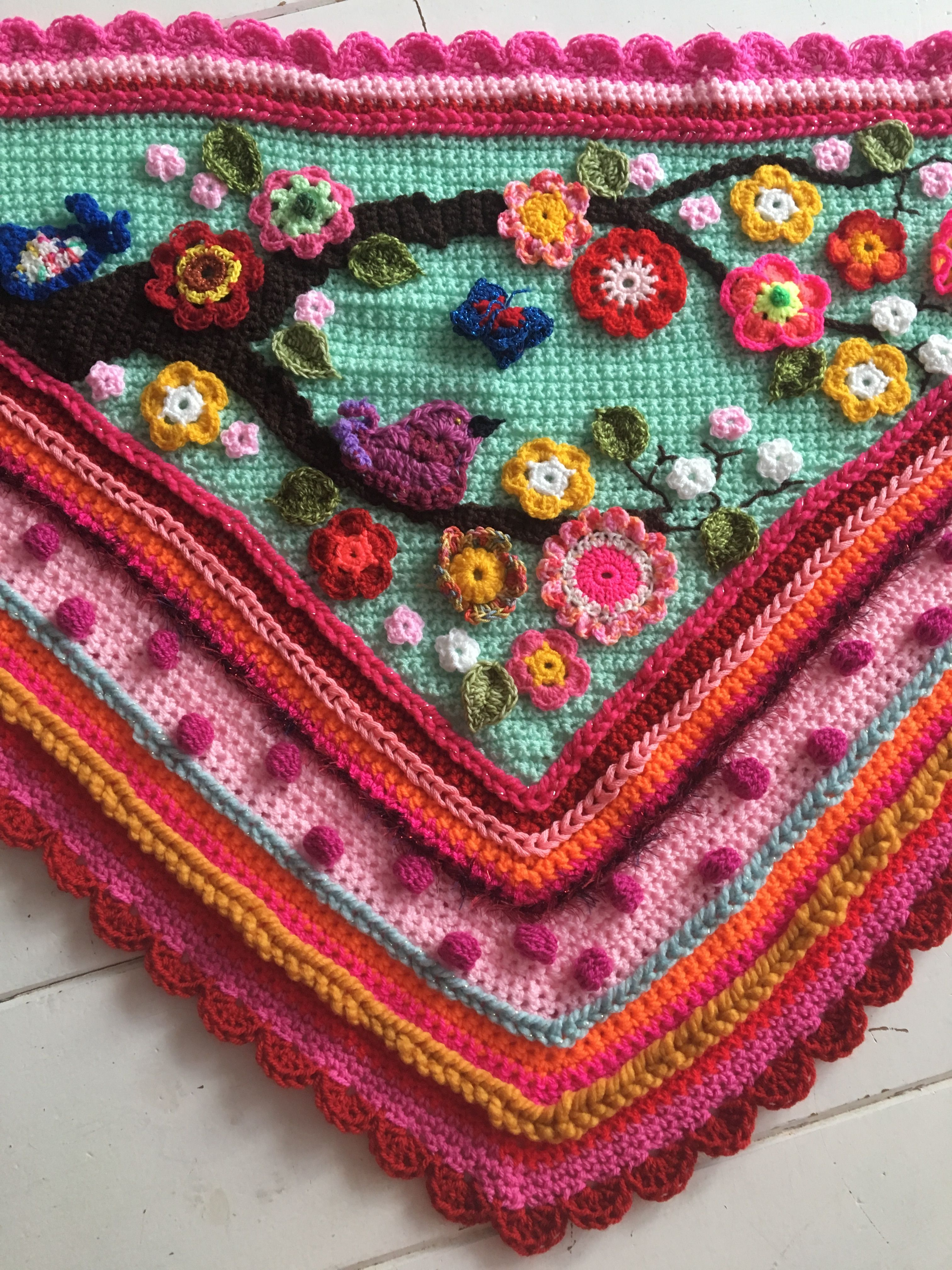 Crochetshawl Omslagdoekhaken Pattern Available