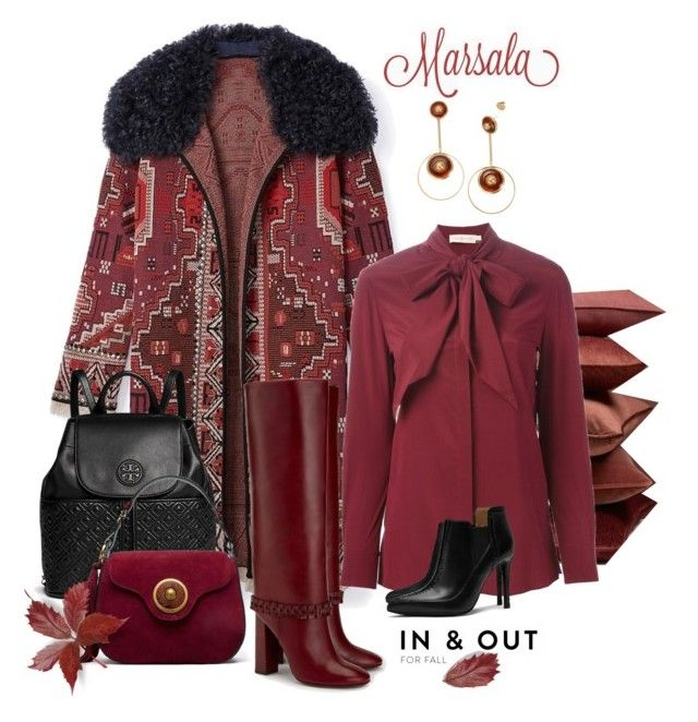 """Marsala and Tory Burch for Fall"" by a-vigh ❤ liked on Polyvore featuring Mode und Tory Burch"