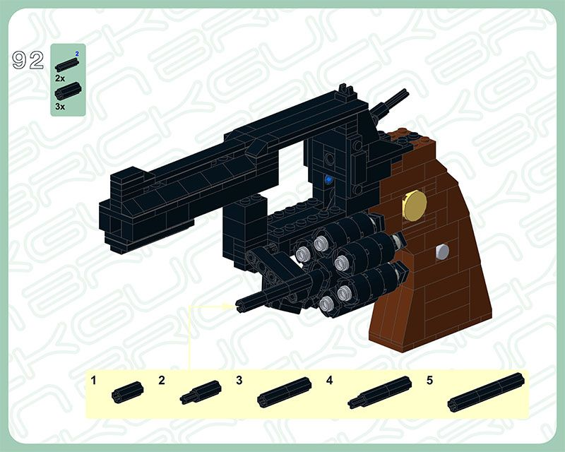 Brickgun Python 357 Instruction Preview Instructions And Kits Now