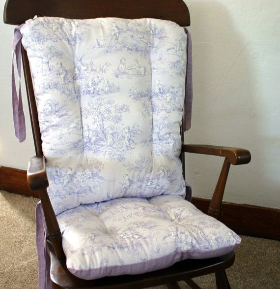 Bon Lavender Toile Rocking Chair Cushions Rocking By MayberryandMain
