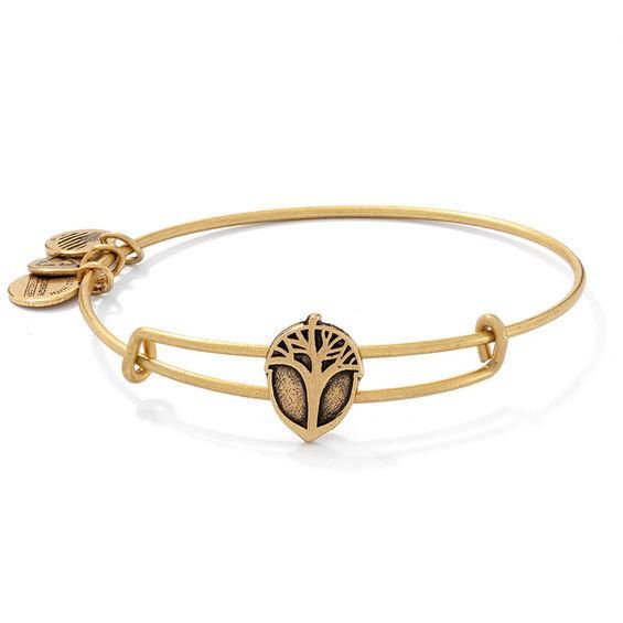 b34b006e8 ... get adorewe zales zales alex and ani unexpected miracles tree slider charm  bangle in gold tone ...