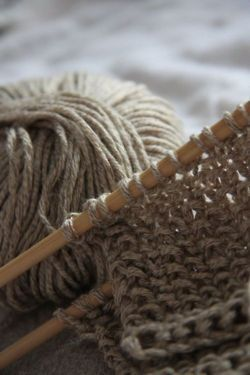 #Knitting is amazing, especially with wooden or bamboo #needles and natural #yarn.